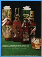 1973 Old Fitzgerald Bourbon Whiskey Christmas Decanters Gift Box Photo Print ad