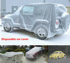 Waterproof Durable Transparent Clear Plastic Temporary Disposable Car SUV Cover