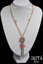 Luxus XL Statement Kette IKITA Paris Halskette Koralle-Perlen Filigran Perlmutt