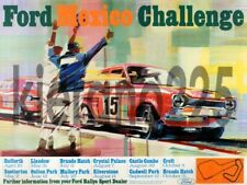 FORD Escort RALLYE SPORT RS Mexico Challenge RS1600  A3 Poster Sales Brochure