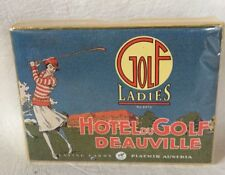 Piatnik Ladies Golf Hotel du Golf Deauville 2 decks Playing Cards Austria NEW