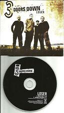 3 DOORS DOWN Loser w/RARE RADIO EDIT UK Made PROMO DJ CD Single USA Seller 2000