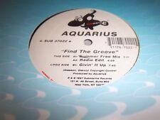 "AQUARIUS-FIND THE GROOVE-3 TRACKS-SUBMARINE 37022 NEW SEALED 12"""