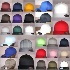 NEW FLEXIFIT BASEBALL CAPS, FLEXFIT PLAIN PEAK FITTED CLASSIC HATS, S, M, L, XL