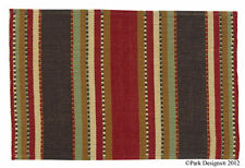 "(2) Timber Ridge Southwestern Woven Cotton Country Home Table Placemats 13""x19"""