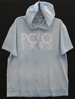 Polo Ralph Lauren Mens Tie-Dye Blue POLO 1992 Hoodie S/S T-Shirt NWT Size L