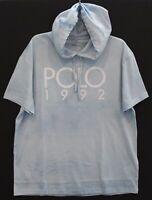 Polo Ralph Lauren Mens Tie-Dye Blue POLO 1992 Hoodie S/S T-Shirt NWT Size XXL