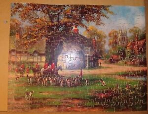 Vintage Wooden Seaboard Jig-Saw Puzzle Meet on the Green200Complete Ireland