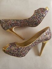 Brand New Nine West Multicoloured Glitter Shoes UK6 EU39 US8M RRP £90