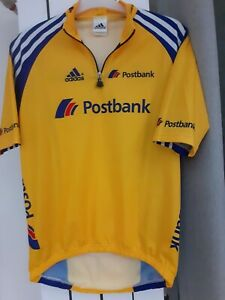 Rare Adidas cycling team PostBank  USA size Small - yellow