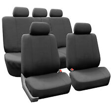 Charcoal Gray Car Seat Covers Full Set For Chevrolet / Chevy Airbags compatible
