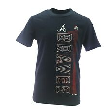 Atlanta Braves Official MLB Majestic Apparel Kids Youth Size T-Shirt New Tags