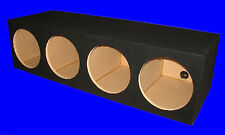 "4 FOUR HOLE 12"" IN-LINE BLACK CHAMBERED SUBWOOFER SUB SPEAKER ENCLOSURE BOX"