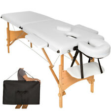 Lettino massaggi portatile massaggio fisioterapia pieghevole 2zone bianco borsa
