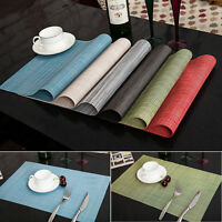 4pcs Quick-drying Placemats Insulation Mats Table Coasters Kitchen Dining Table
