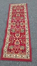 "Wilton Area Rug Rectangular 62""x 20"" With Floral Design Made In Egypt Red"