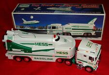 1999 Boxed Hess Truck Big Rig w/ Space Shuttle & Satellite - Battery Oerated Toy