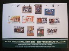 UNO Wien Jahressammelmappe 1987 komplett gestempelt (M 160)