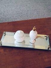 New ListingDresser Vanity Mirror Perfume Caddy Tray Glass Rail ~16 X 6� With 2 Avon Pieces