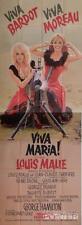 VIVA MARIA - BARDOT / MALLE / MOREAU - ORIGINAL RARE SIZE FRENCH MOVIE POSTER