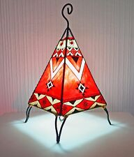 Moroccan Henna Lamp- pyramid  shape 38 CM Red