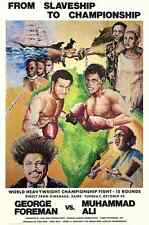 Ali Forman Rumble in The Jungle Poster