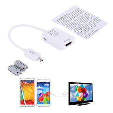 For Samsung Galaxy S3 S4 S5 Note 2 Micro USB MHL 2.0 To HDMI HDTV Adapter Cable