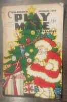 Childrens Play Mate Magazine Dec 1948 Vintage Puzzles Kids Jokes Activity Book