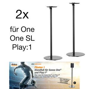 2x Boxen Standfuß Ständer Standfüsse für Sonos One / SL / Play 1 Lautsprecher