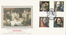 (09653) GB su Sothebys PPS FDC Alfred Lord Tennyson WINCHESTER 10 MARZO 1992