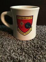 Navy Ship USS Boulder LST.1190 Collectible Mug Quo Mecuvque Vocat-Patria