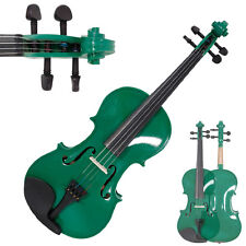 New Green Perfect Violin/Fiddle Full Size 4/4 W/ Case & Bow & Rosin