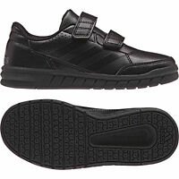 Boys Adidas Alta sports Shoes Black School Casual Kids Trainers -BA9526
