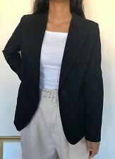 Max Mara Women Smart Black Stripe Blazer Jacket Made in Italy Size Medium UK 10