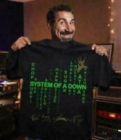 System Of A Down T Shirt Black Cotton Men Made in USA Funny Vintage Gift For Men