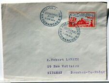 Yt 983 WW2  LIBERATION DEBARQUEMEMENT  OBLI 1° JOUR 1954 FDC FRANCE ENVELOPPE