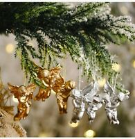 6Pcs Christmas Angel Doll Wings Xmas Tree Hanging Ornament Party Decoration Hot