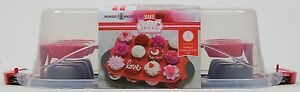 Nordic Ware 3 Piece Cupcake Carrier Set Holds 24 Cupcakes NWT