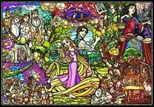Disney Tangled Rapunzel Story stained glass 1000 pieces jigsaw puzzle
