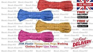 30M WASHING LINE/CLOTHES LINE LAUNDRY TWISTED ROPE OUTDOOR*UK SELLER*