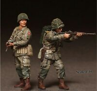 1/35 Resin Figure Model Kit US Soldiers 101ST Airborne WWII WW2 Unpainted