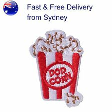 Popcorn Cup Iron on patch movie cinema companion hot iron-on embroidery patches