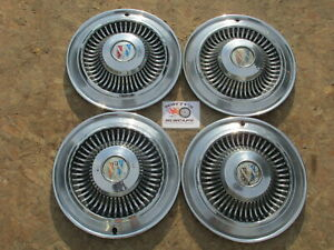 """1964 BUICK SPECIAL 14"""" WHEEL COVERS, HUBCAPS, SET OF 4"""