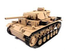1:16 Mato German Panzer Iii Rc Tank 2.4Ghz Airsoft 100% Metal Desert Yellow