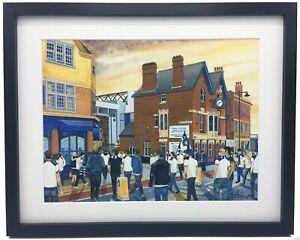Tottenham FC WHL Stadium High Quality Framed Art Print. Approx A4.