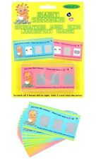 Baby Shower Pack Of 12 Scratch and Win Jackpot Card Game