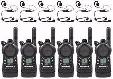 6 Motorola CLS1110 Two-way Radios & HKLN4604 Headsets + Rebate for a Free Radio!