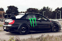 2x LARGE vinyl car van boat side MONSTER sticker graphic decal racing rally jdm