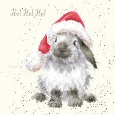 Wrendale Designs Christmas Card Rabbit Ho ho ho