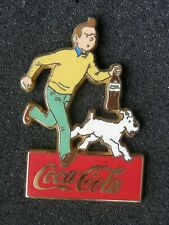 pin's TINTIN courant n°1 - dim : 31x45mm ,hergé ,coca cola